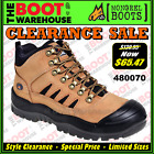 Mongrel Work Boots 480070. Tan Hiker Boot, Steel Safety Toe Cap. Brand New.