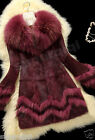Real Genuine Rabbit Fur Raccoon Fur Collar Coat Jacket Outwear Garment Warm Gift