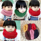 New Cute Kids Knit Infinity Scarf Baby Boy Girl Wrap Neckerchief 6 Months -6Yr