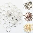 Golden & Silver Plated  Metal Double Split Jump Rings 4,5,6,8,10,12MM
