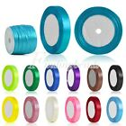 Wedding Party Satin Ribbon 25/50 Yards Roll 3/6/10/15/20/25/38/55mm 30 Colors