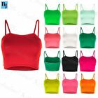 Womens Ladies Sleeveless Strappy Plain Camisole Bandeau Boobtube Bralet Crop Top