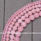 "1 Strand 2-10mm Natural Gemstone Rose Quartz Round Loose Beads Jewelry 15.5""-16"""