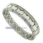 Men's Stainless Steel Magnetic Golf Therapy Bracelet M