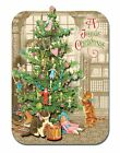 Punch Studio Holiday Dimensional Gift Cards Set2 Kittens & Christmas Tree 94407