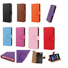 Leather Flip Wallet Card Slot Case Cover For SONY XPERIA Z1 MINI COMPACT D5503