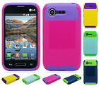 For Lg Optimus Fuel L34C NEST HYBRID HARD Case Rubber Cover + Screen Protector