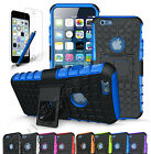 "For iPhone 6 Case 4.7""  Heavy Duty Rugged Grip TPU Hard Cover w/Kick Stand"