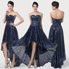 FREE POSTAGE~Celeb Style Front Short Back Long Prom Party Cocktail Evening Dress