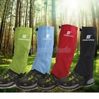 Pair Waterproof Climbing Snow Legging Boot Gaiters Trouser Protector Cover S / L