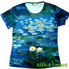 CLAUDE MONET WATER LILIES POND IMPRESSIONISM PAINTING T SHIRT FINE ART PRINT