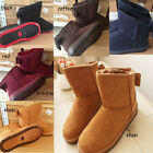Fashion Womens Cute Bowknot Winter Warm Ankle Snow Boots Shoes 5 Size 5 Color