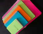 4 Pack spiral bound notebooks with plastic cover in 5 sizes/ Writing/memo paper