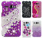 For Alcatel One Touch Sonic LTE Crystal Diamond BLING Case Snap On Phone Cover