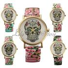 Ladies' Trendy Skull Timepiece Womens Timer Clock Bracelet Quartz Wrist Watch