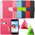 For ZTE Grand X Z777 Hybrid Flip Folio Leather Wallet Case Pouch Kickstand