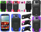 For Alcatel ONETOUCH Fierce 2 Advanced Layer HYBRID KICKSTAND Rubber Case Cover