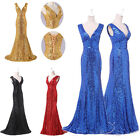 FREE SHIPPING~Long Sequins Masquerade Cocktai Party Gown Prom Ball Evening Dress