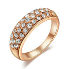 New Rose Gold Band Ring with Coloured Cubic Zirconia Costume Jewellery 0120-122