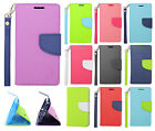 For LG Optimus F6 D500 MS500 Leather 2 Tone Wallet Case Pouch Flip +Screen Guard