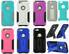 Apple iPhone 6 4.7 G Case HYBRID KICKSTAND Rubber Phone Cover + Screen Protector