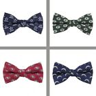 Choose Your NFL Football Team Woven Polyester Repeat Bow Tie by Eagles Wings