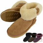Ladies/Womens Genuine Sheepskin Boot Roll Down Button Feature Many Colours