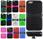 Apple iPhone 6 Plus 5.5 Hard Gel Rubber KICKSTAND Case Cover +Screen Protector