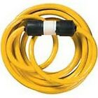 NIB COLEMAN CABLE YELLOW JACKET 1381 10/4X25FT STW 20A GENERATOR EXTENSION CORD