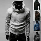 New Men Mens Casual Jacket Sweatshirt Hooded Hoodie Black Hoodies Coat