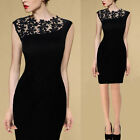 Women Ladies Sexy Lace Stretch Cocktail Evening Party Bodycon Pencil Skirt Dress