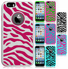 For Apple iPhone 6 4.7 HARD Hybrid Zebra Fusion Rubber Case Cover Accessory