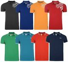 Crosshatch Polo Pique T-shirt New Men's Jersey Shirt Red Blue Orange Grey Green