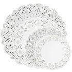Round White Paper Lace Doilies 5 Sizes Wedding Doily Coasters Cake Presentation