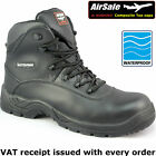 """AirSafe"" Waterproof Composite Toe Cap Leather Safety Boots. Size 4 - 14.  AS-C4"