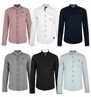 Smith & Jones Men's New Long Sleeve Slim Fit Shirts Check Plain Pattern