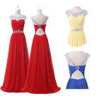 Top Design~ Lady Evening Prom Dress Stock Formal Long Beaded Masquerade Ballgown