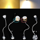 3W 4W 5W LED Wall Spot Light Bed Desk Lamp Reading W/ 30CM Flexible Tube UK