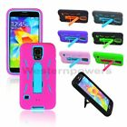 For Samsung Galaxy S5 S V Deluxe KickStand Rugged Case 5x Clear Screen Protector