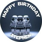 Personalised Star Wars Themed Cake Toppers, 10 Options on Icing or Rice Paper