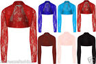 New Women's Ladies Long Sleeve Floral Lace Shrug Cardigan Top