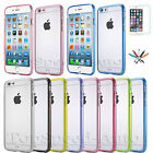 Apple iPhone 6 & 6 Plus Slim TPU Transparent Crystal Clear Hard Back Cover Case