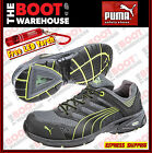 "Puma Composite Toe Cap Safety Work Jogger / Shoes 'Fuse Motion Green 642527""."