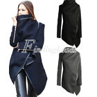 Fashion Women's Slim Wool Warm Long Coat Jacket Trench Windbreaker Outwear S-3XL