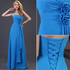 STOCK ALL SIZE Long Evening Cocktail Party Gown Prom Wedding Bridesmaid Dresses
