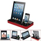 iPega® Dual Charger Docking Station Speaker For iPhone 5S iPad Mini Galaxy S4 S3