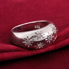 Hot Sale! Dazzle Women Flower Crystal 925 Sterling Silver Band Ring Jewelry A845