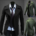 Winter Formal Causual Men's Single Breasted Wool Blends Coat Jackets Blazer COOL