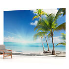 WALL MURAL PHOTO WALLPAPER PICTURE (735PP) Beach Sea Sand Tropical landscape