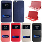 For Apple iPhone 6 Plus 5.5'' Window Folio Flip Leather Wallet Case Pouch Stand